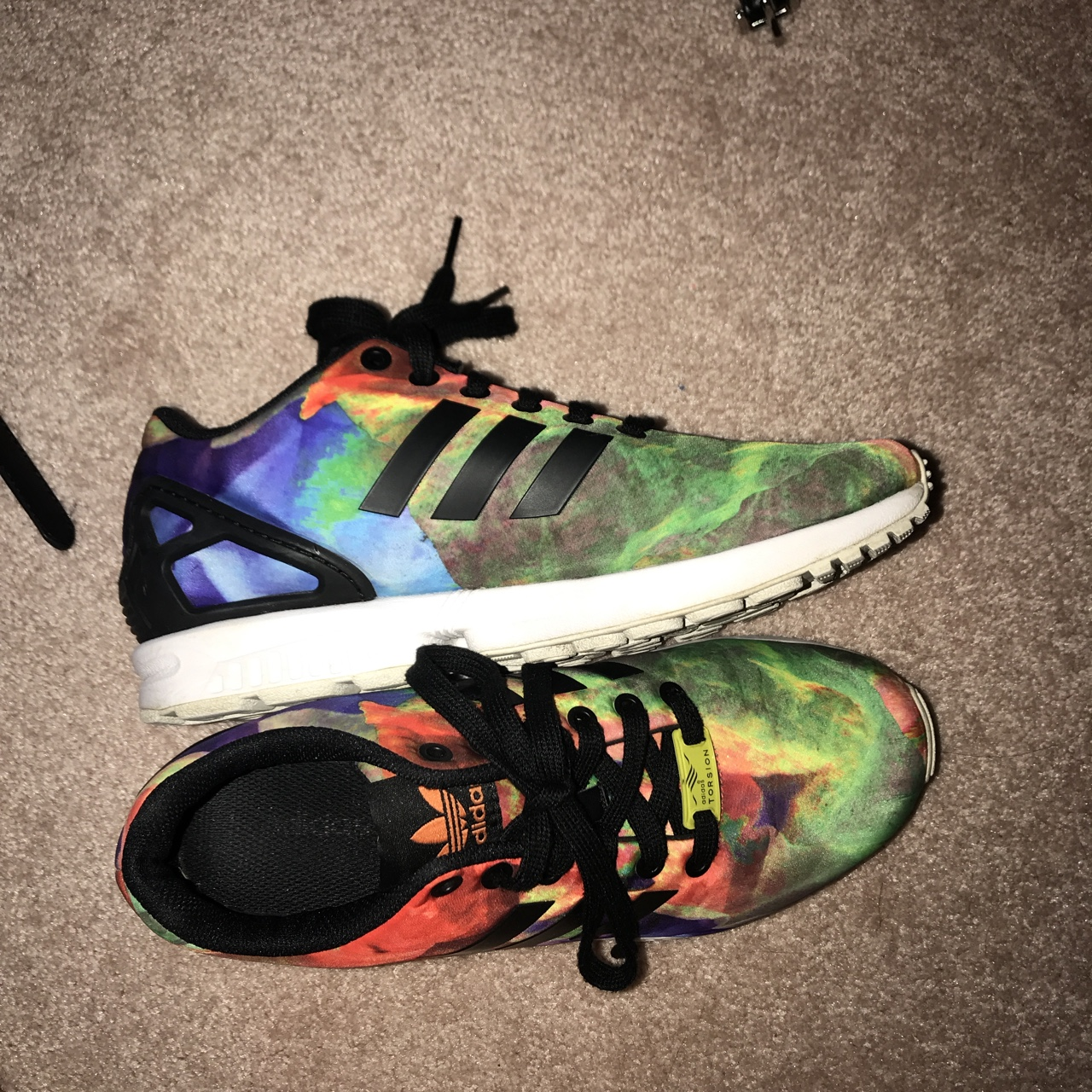 ADIDAS shoes zxflux colorful rainbow shoes ! look so...