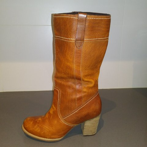 003ca99b37e Timberland-  vintage  cognac leather boots. Only worn once