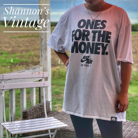 """46d062ee Nike Air Force 1 Men's """"Ones for the money"""" Tee size 3XL - Depop"""