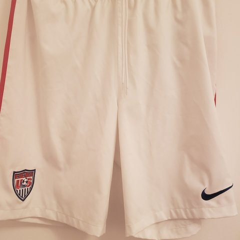 b2ac69335 Nike USA soccer shorts -Color white/red/blue -Worn at least - Depop