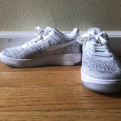 size 40 1f4e8 71043 maddiethanos. 7 months ago. Portland, United States. Womens Nike Air Force  1 Flyknit Low ...