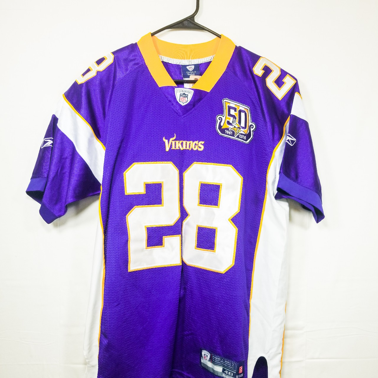 detailed look 17ba3 ddb54 Reebok Jersey Adrian Peterson #28 Minnesota Vikings ...