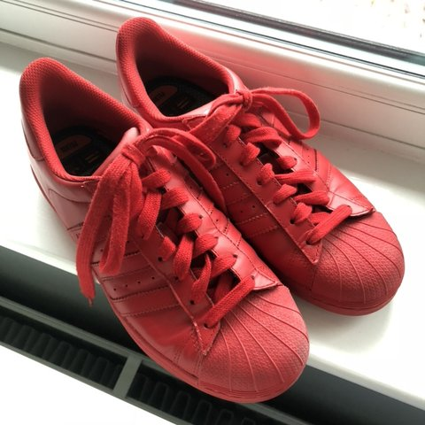 d5102c78d Red Adidas Superstar trainers • UK 7 • Hardly worn
