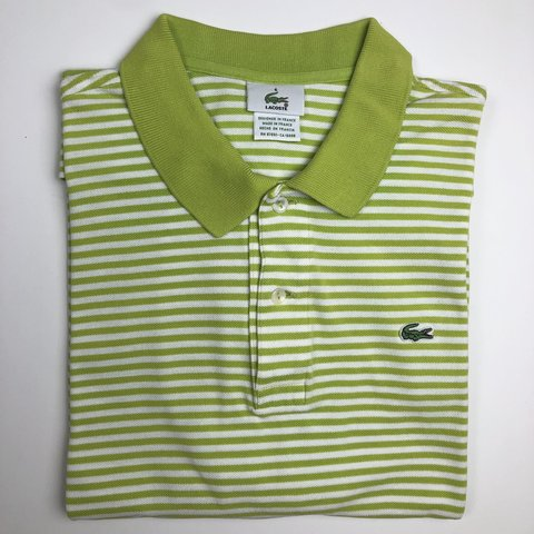65e1bc021 Lacoste Slim Fit Polo Shirt. Made in France. Size- 6 XL. 6 - Depop