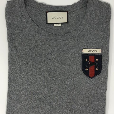 eb58e52b Gucci T-shirt - grey: Size - Medium Condition - Used (worn a - Depop