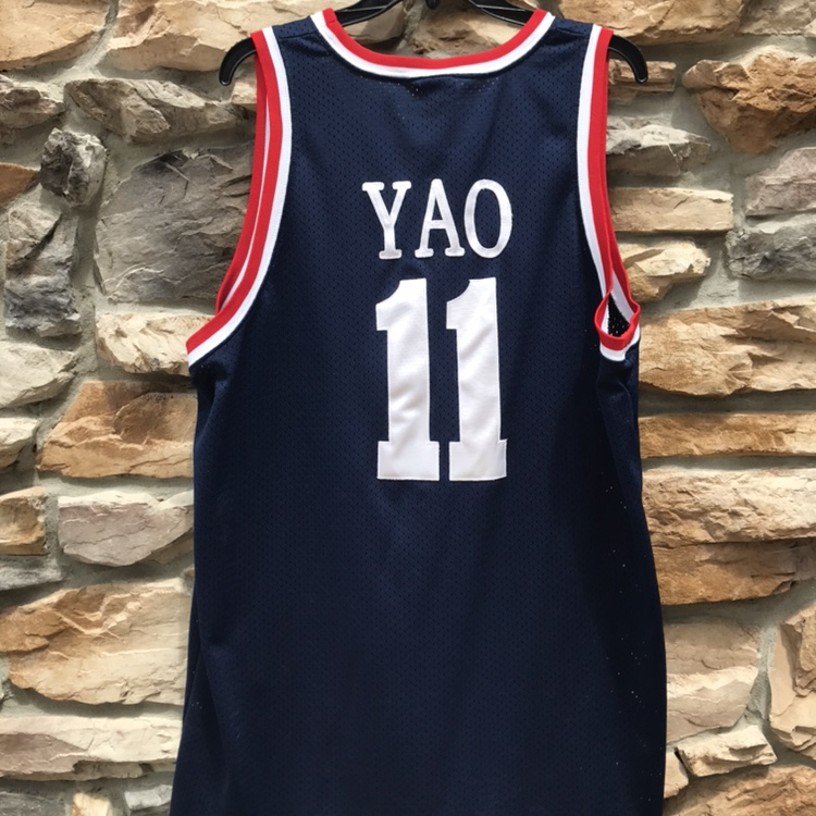 new concept d9034 dffd2 Yao Ming Nike throwback jersey #china #houston... - Depop
