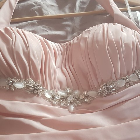 44a6c4365f2 Beautiful salmon pink Wedding dress size 10-12. Perfect Fish - Depop