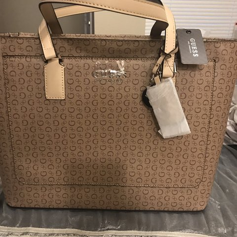 6ae7b7d30ad Brand new Guess Jet set tote in brown; it has multiple so do - Depop
