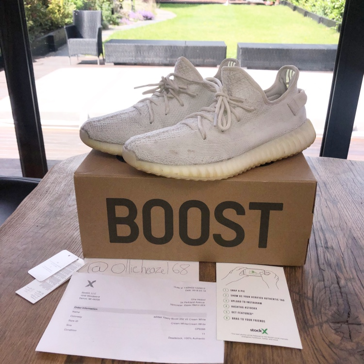 pretty nice f7f9b 8d087 Yeezy 350 cream V2   purchased from stockx, comes... - Depop