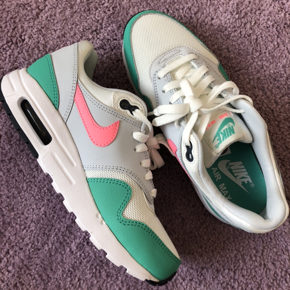 """Never worn Nike """"watermelon"""" air max 1's size 5Y Depop"""