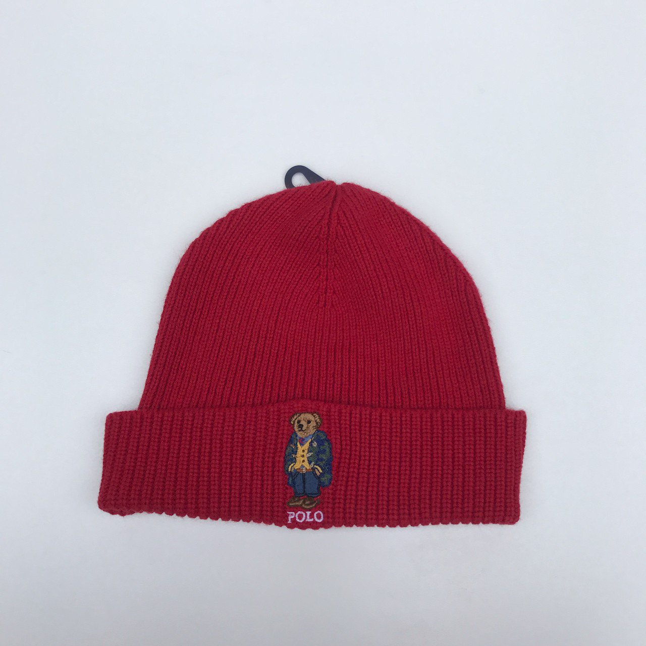RALPH LAUREN POLO BEAR BEANIE 🔥 BRAND NEW with tags • Red • - Depop 9cb4015b7af