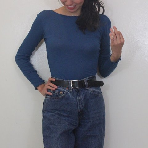 c3564b0ad1bb3a @youandiapparel. 20 days ago. Downey, United States. Ribbed, Navy Blue Free  People Top!