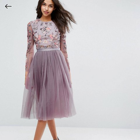 e14a7e5417 Needle and Thread Ditsy Scatter Tulle midi lavender dress. I - Depop