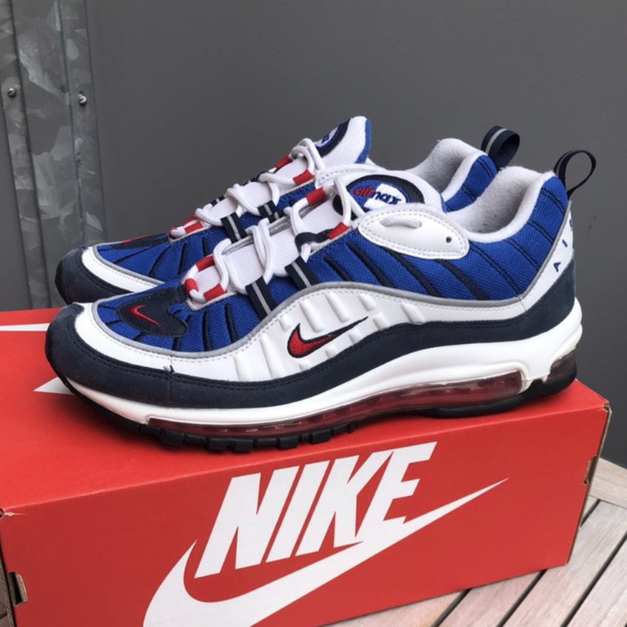 Nike Air Max 98 Gundam With Original Box Size Us10 Depop