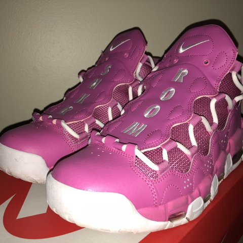 78cac476bf9 @keeswizzle. 7 months ago. Portland, United States. Nike Air More Money - Sneaker  Room Breast Cancer Awareness Month