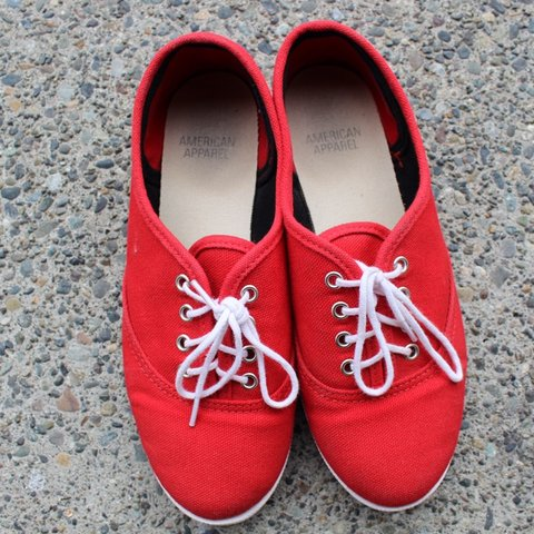 ff49096ca0 @amcoil. 4 months ago. United States. Cute red American Apparel shoes ...