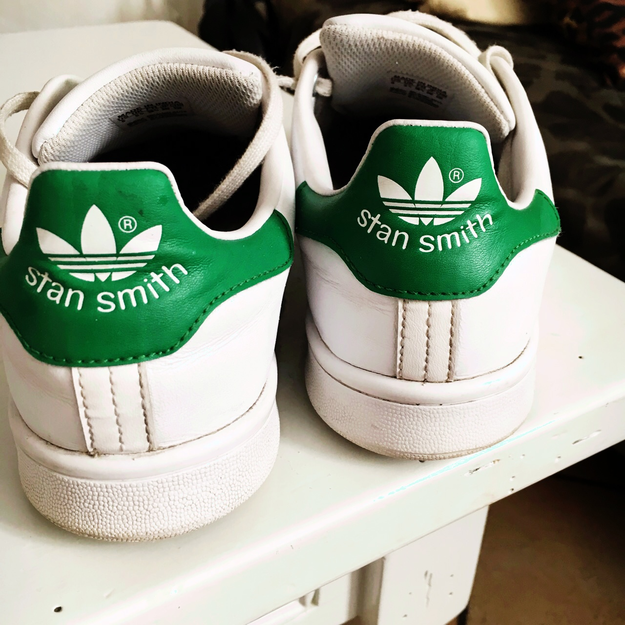 adidas stan smith bianca and green
