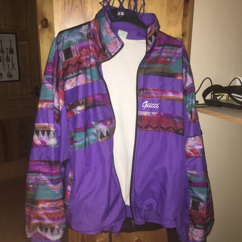 61bd37b1b EXTREMELY RARE, unisex vintage Gucci shell jacket. Acquired - Depop