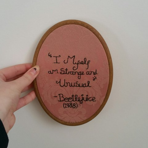 Ooak I Myself Am Strange And Unusual Beetlejuice Quote By Depop