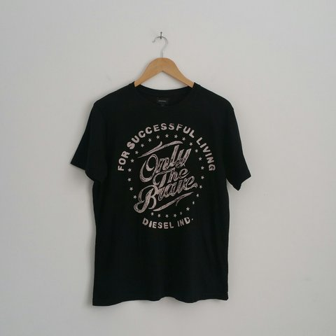 f3ed65abda9 Men s Black DIESEL Tshirt With White  For Successful Living