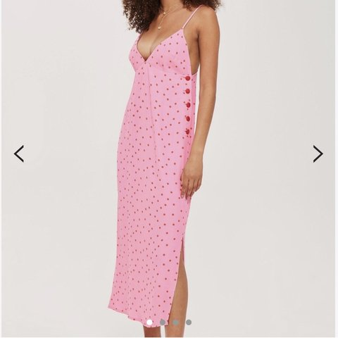 3cd87390cdb8 @jeathert. 5 months ago. Houston, United States. TOPSHOP RED AND PINK SPOT  SLIP DRESS