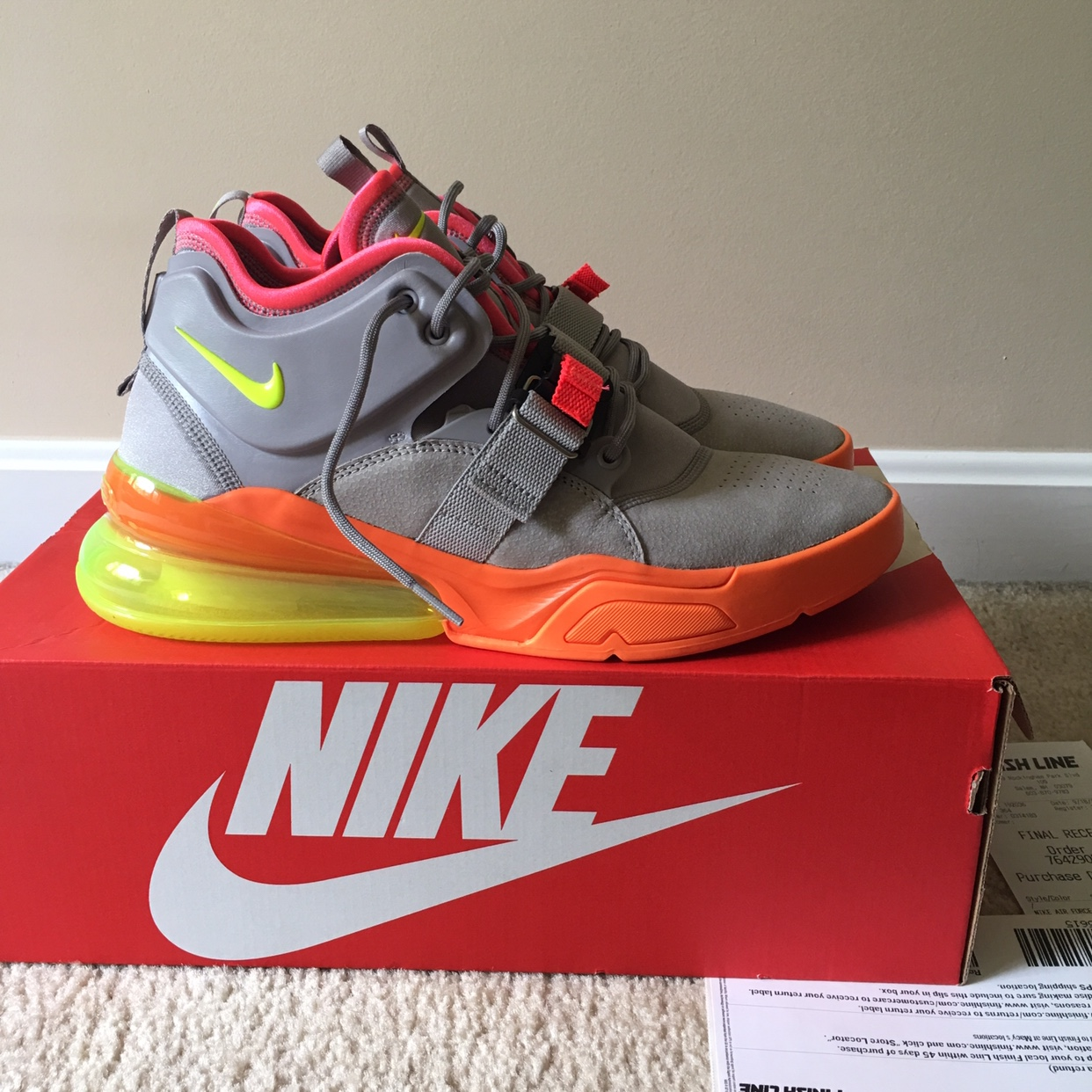 sports shoes 6c5a4 467ab NIKE AIR FORCE 270 SHERBET COLORWAY / Sz 11 ...
