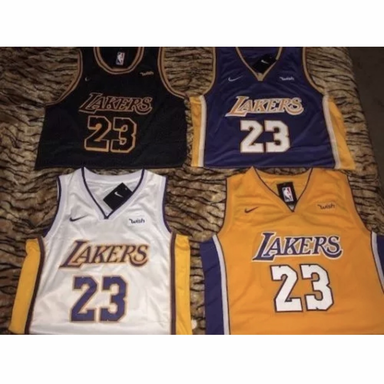 cheap for discount f4463 54972 Lebron James Lakers #23 Jersey Edition Black Purple... - Depop