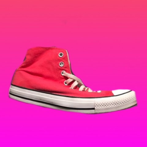 be98a954b8f7 PRICE DROP Hot pink converse high tops! Just washed. Good - Depop