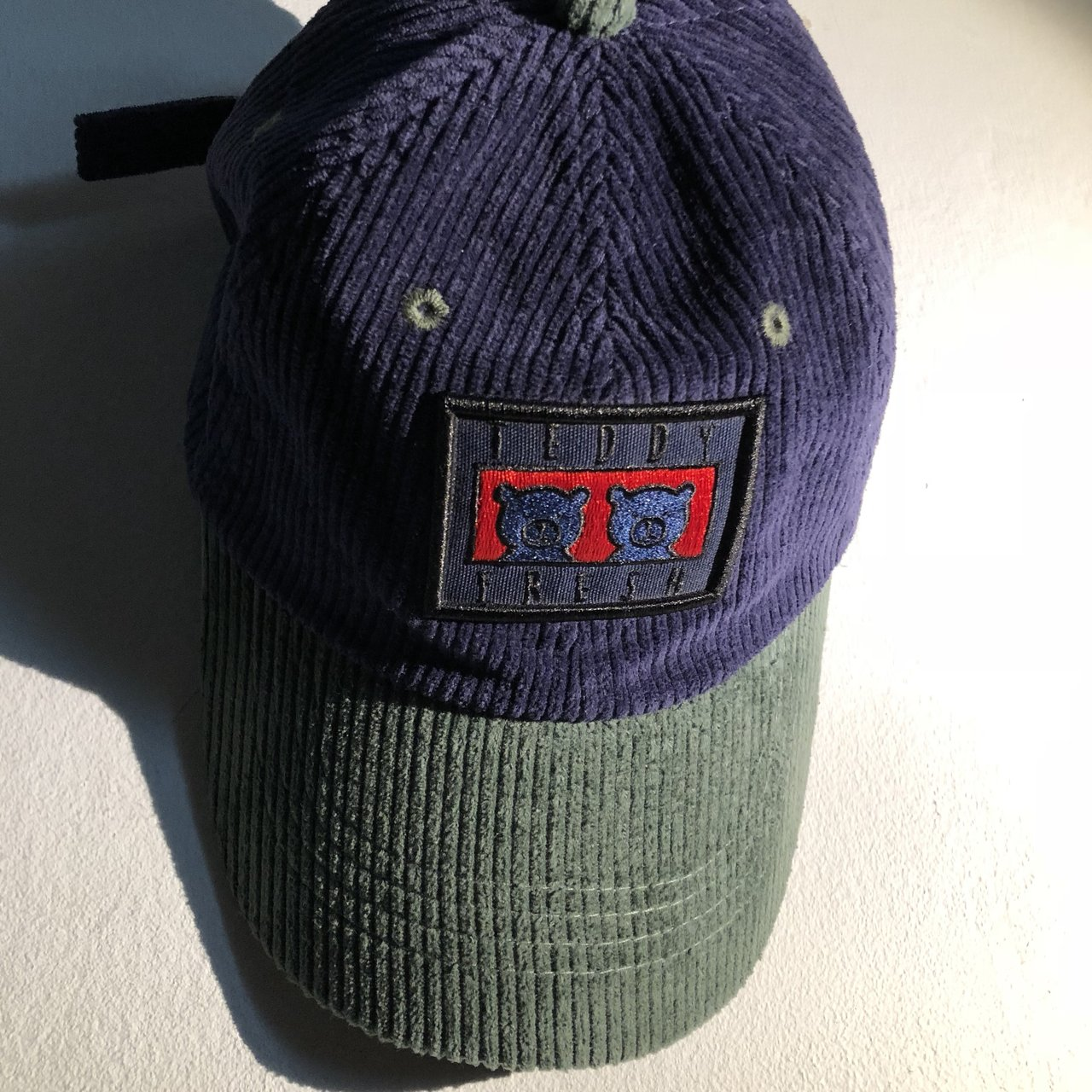 Teddy Fresh Hat from the official website. Blue Corduroy Two - Depop fe32d0f60654