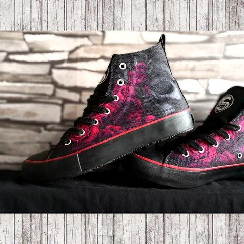 c7725bba1bd Brand new Blood Rose high top lace up shoes. Still with on a - Depop
