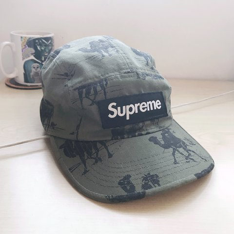 8e52ec62 Supreme camels camp cap. Olive colour, very very good hardly - Depop