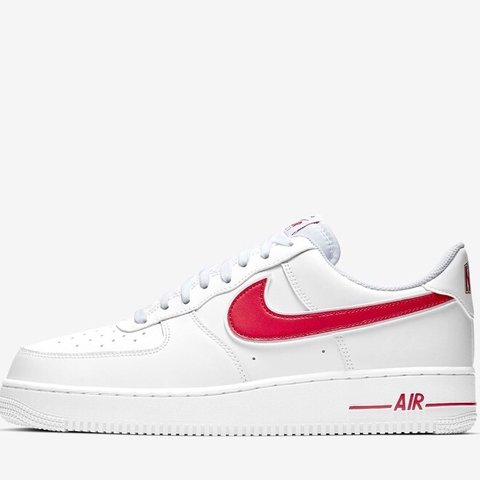 b0db4f0bd3be nike air force 1❗ -red tick design -size  5