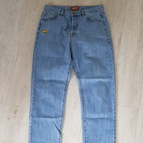 8c1746b5 Golfwang smiley denim jeans light wash Size 32 9/10 - Depop