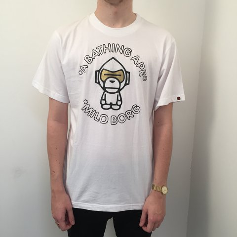 fc356de4 @tamarathrifts. 2 years ago. Plymouth, UK. BAPE bathing ape, baby milo  authentic men's t shirt.