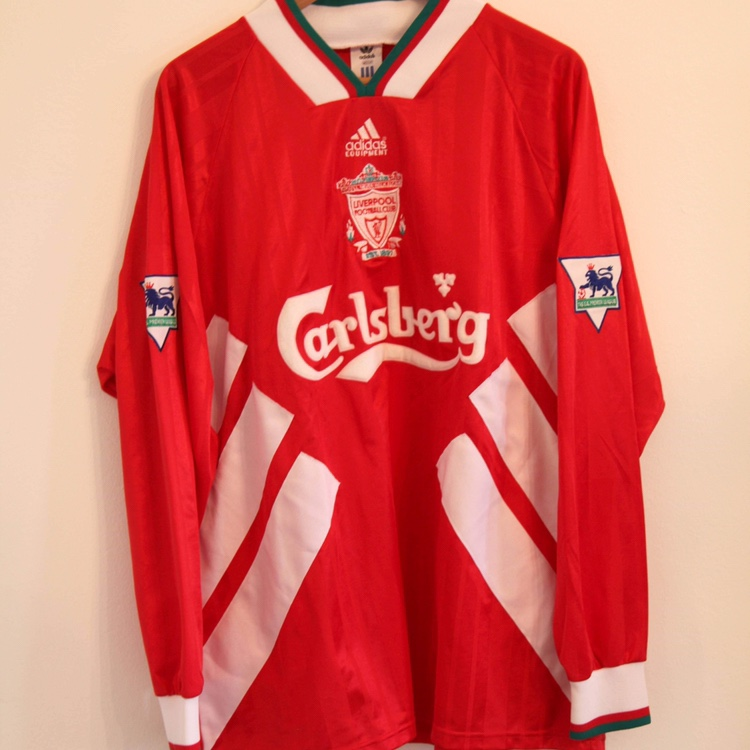 best sneakers b561d ee3c0 ADIDAS Player Issue LIVERPOOL FC SHIRT 1993/1994 ...