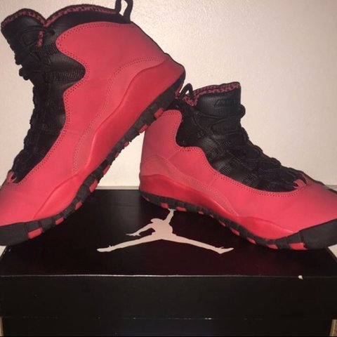 e0d3c1a2c836 Air Jordan 10 (X) Retro Fusion Red   Black-Laser Orange- EU - Depop