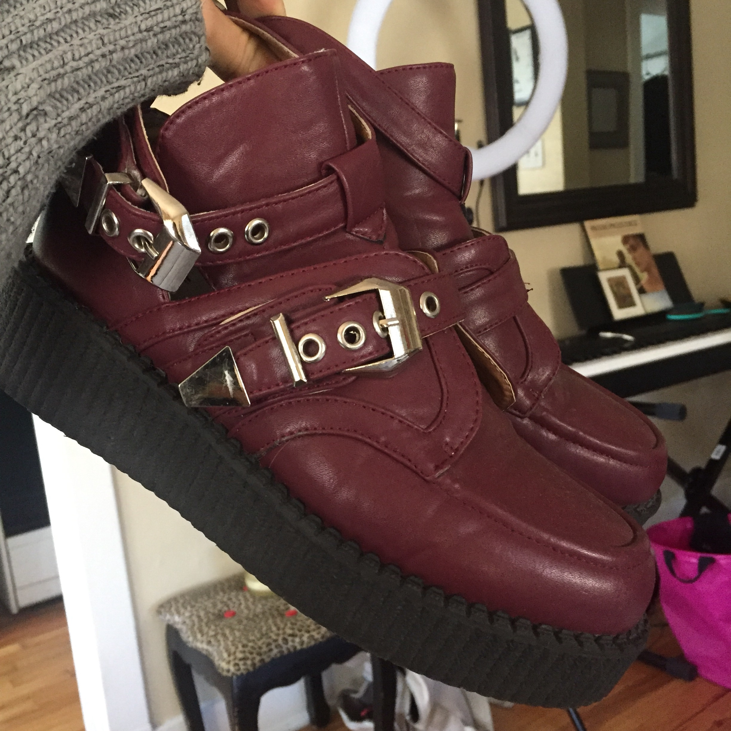 new products 2f53d ecd2a Maroon Creepers I love these bbs they are just too... - Depop