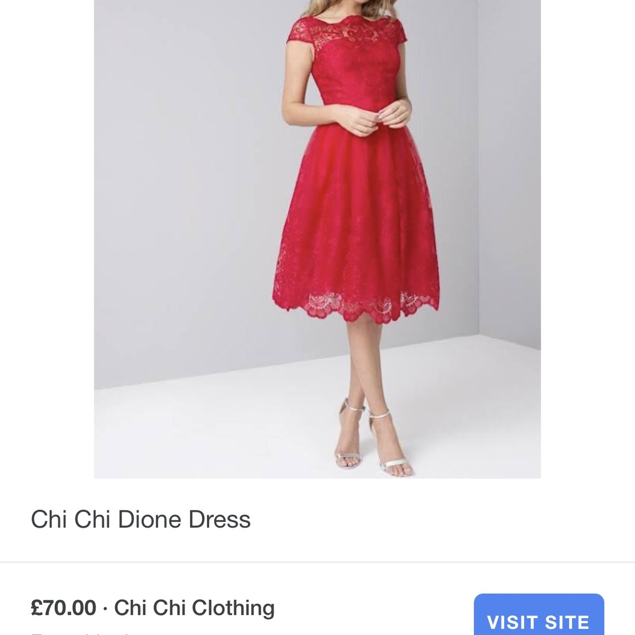 fd79d9ffafe59 Chi Chi London - Red lace cocktail dress. Worn once. Paid - Depop