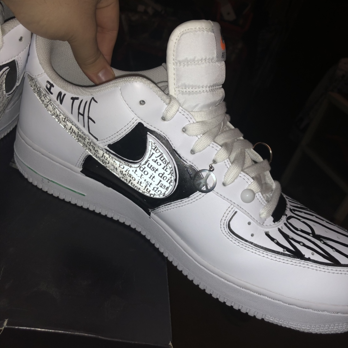 Air Force 1's custom shoe!! Made these a couple Depop