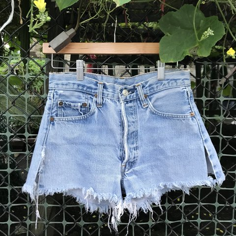 0fc78291 @deedeesdumb. 4 months ago. New York, United States. Vintage Levi's cut off distressed  denim shorts. Stay cheeky 🤙🏼 high waisted ...