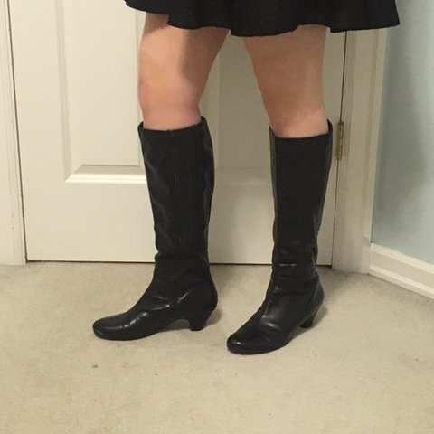 4ef15a9b3ee Knee high Patent Pending brand boots with 1.5 inch heels. up - Depop