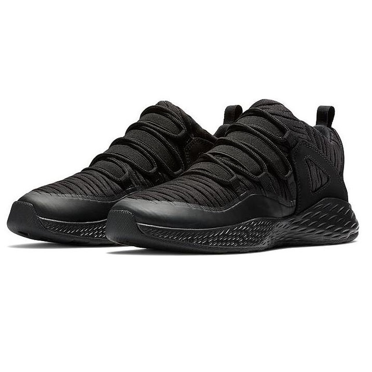 a54358055715 BLACK ON BLACK NIKE JORDAN FORMULA 23 LOW TOP BG TRAINERS