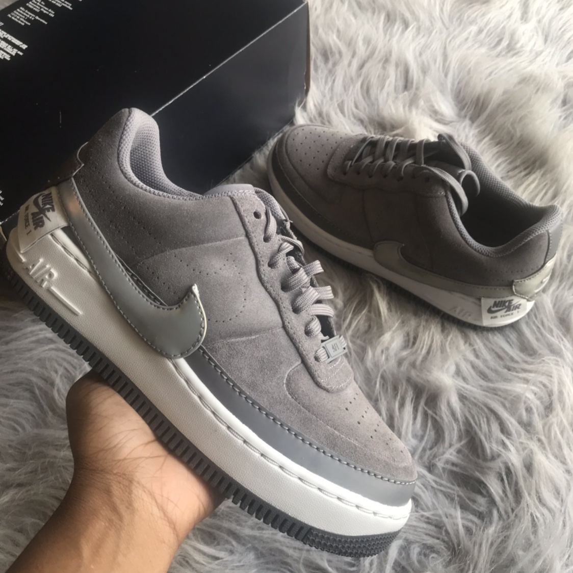 Nike Air Force 1 Jester Low Grey Womens size Depop