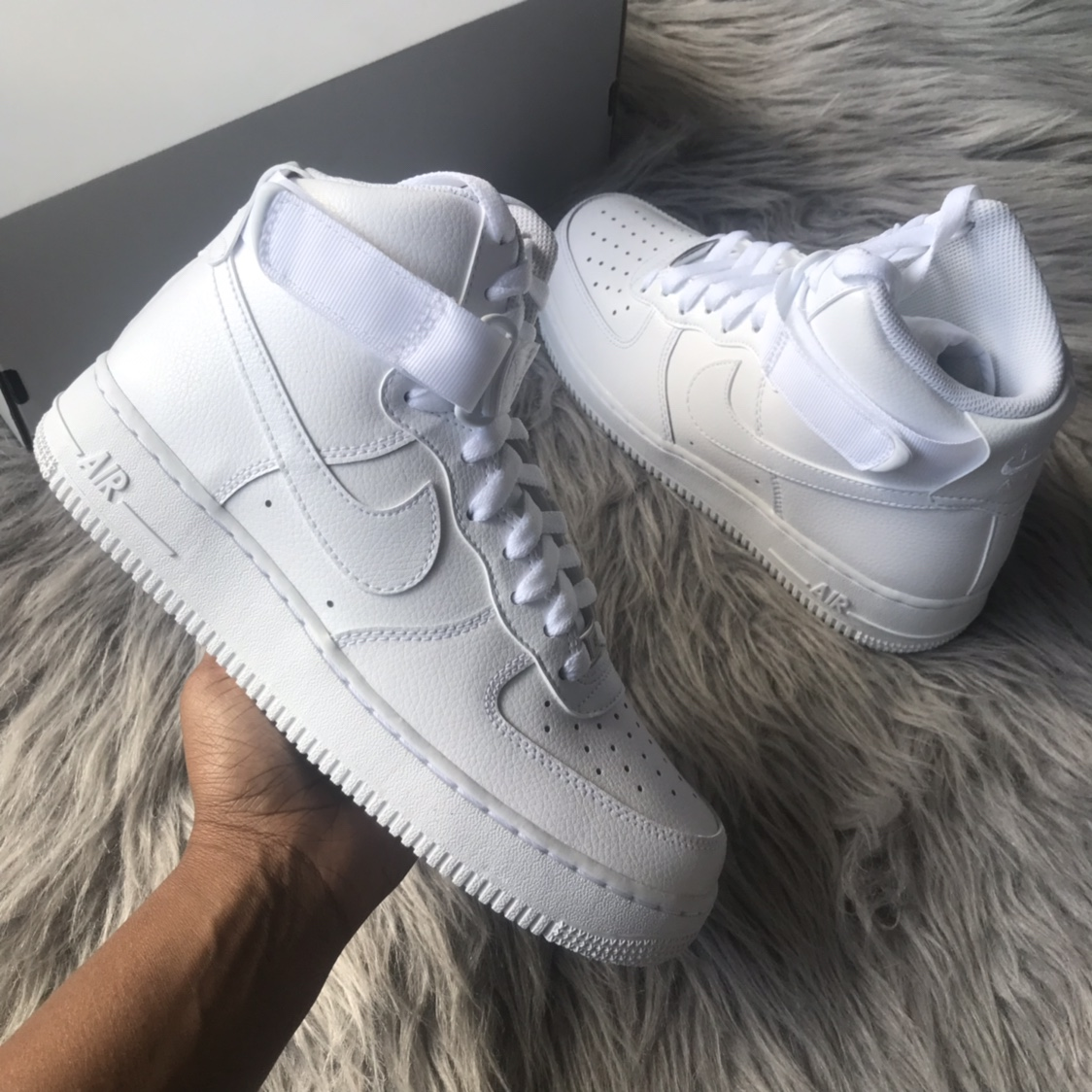 Nike Air Force 1 High 07 Triple White 7 100 Depop