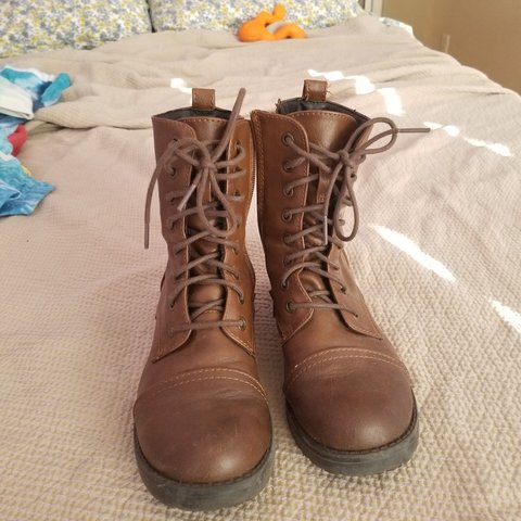 52687b44823d Mossimo (Target) brown combat boots I wore them quite a bit - Depop