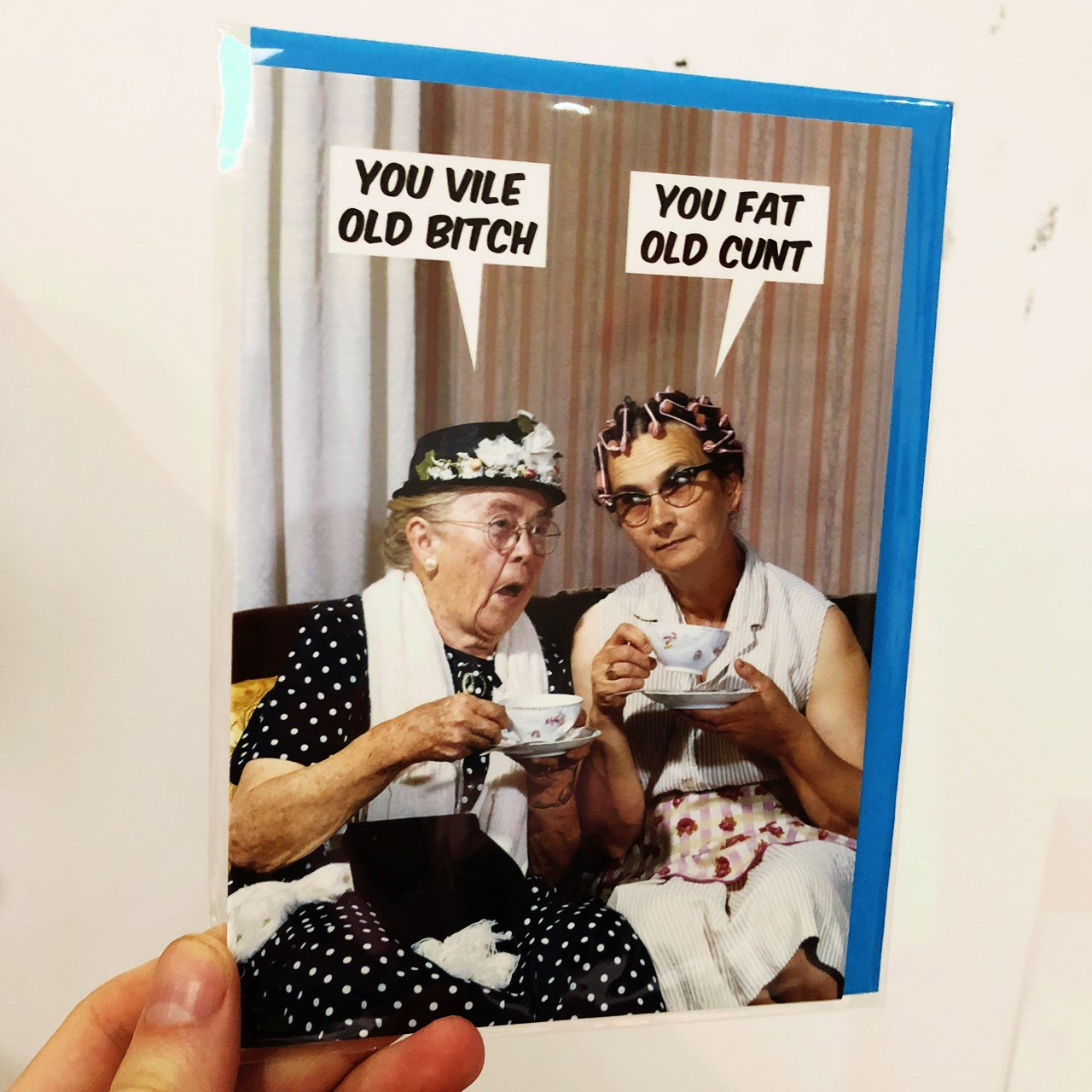 you vile bitch -you fat old cunt greetings card. blank for - depop
