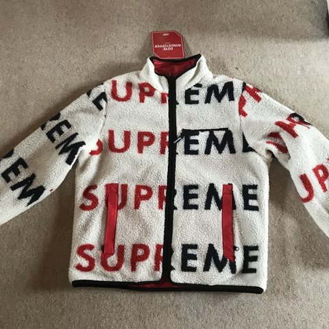 Hflclothing 7 Months Ago Winchester United Kingdom Supreme Reversible Logo Fleece Jacket