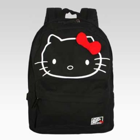 48ecb1b25b9f Hello kitty vans backpack💛 used a handful of times   just - Depop