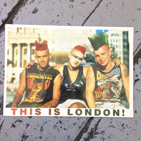 This Is London Original 80s Postcard Featuring The British