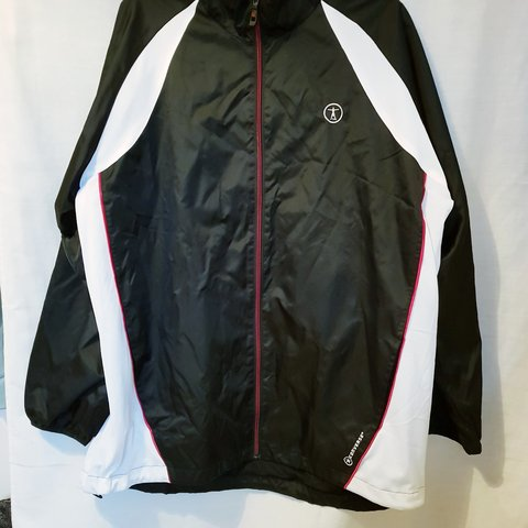 aa0c05f31c7b Mens Vintage converse black and white windbreaker No size to - Depop